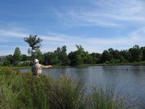 Victor Flyfishing at Green Pond Park